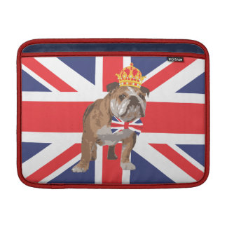 English Bulldog with Crown Macbook Cover