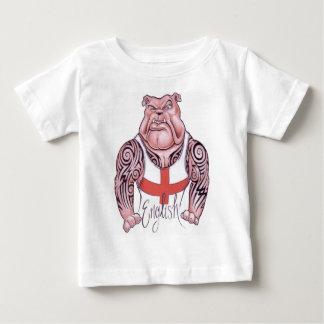 English Bulldog with Tribal Tattoo Baby T-Shirt