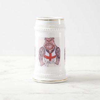 English Bulldog with Tribal Tattoo Beer Stein