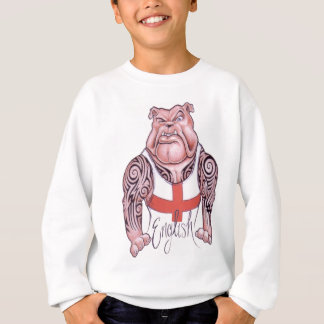 English Bulldog with Tribal Tattoo Sweatshirt