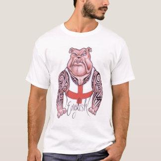 English Bulldog with Tribal Tattoo T-Shirt