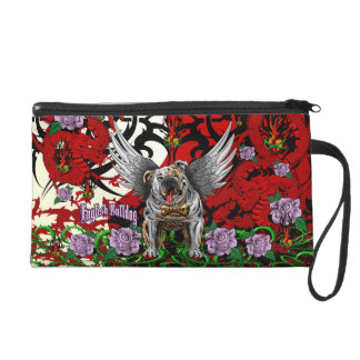 English Bulldog Wristlet Purses
