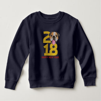 English bulldog Year of the Dog 2018 New Year Sweatshirt
