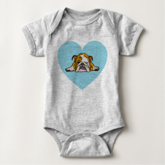 English Bulldogge Bully Baby Bodysuit