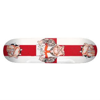 English Bulldogs Tattoos and St Georges Cross Custom Skateboard