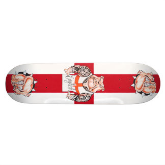English Bulldogs Tattoos and St Georges Cross Skate Board Deck