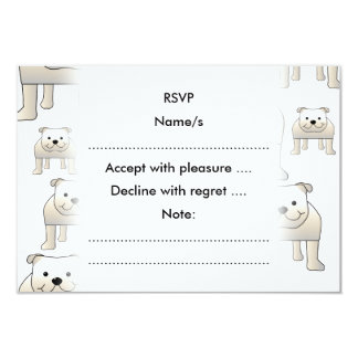 English Bulldogs, White. Dogs Pattern. Card