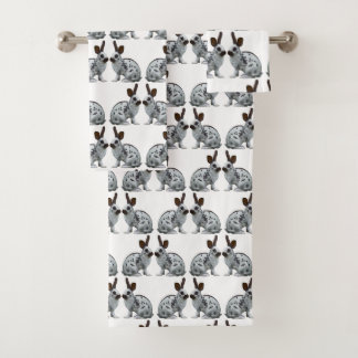 English Bunny Frenzy Bathroom Towel Set