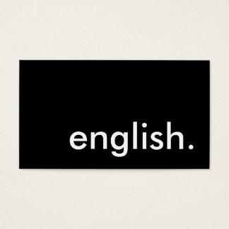 english. business card