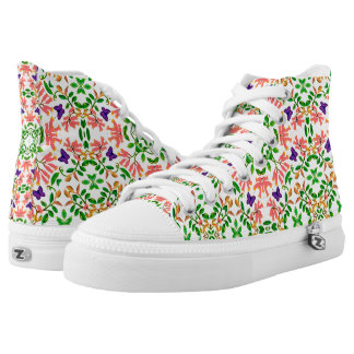 English Butterfly Garden High Top Sneakers