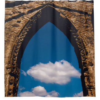 English Castle Window Shower Curtain