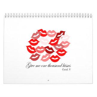 English-Catullus Five: 1,000 kisses Calendar