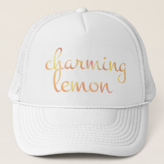 English CHARMING LEMON in Watercolor Trucker Hat