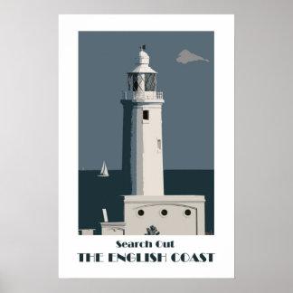 English Coast 1920s-style retro poster