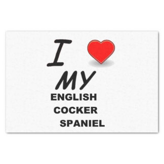english cocker sp love tissue paper