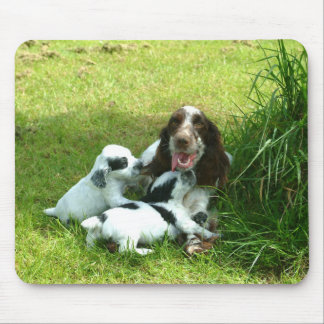 English Cocker Spaniel and Puppies Mousepad
