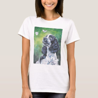 English Cocker Spaniel butterfly t shirt