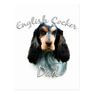 English Cocker Spaniel Dad 2 Postcard