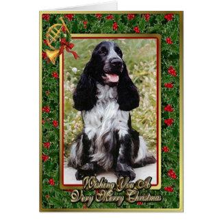 English Cocker Spaniel Dog Blank Christmas Card