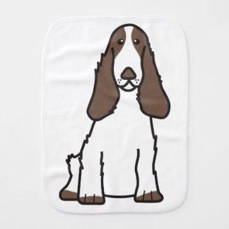 English Cocker Spaniel Dog Cartoon Baby Burp Cloth