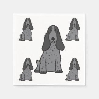 English Cocker Spaniel Dog Cartoon Disposable Napkins
