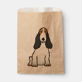 English Cocker Spaniel Dog Cartoon Favour Bag