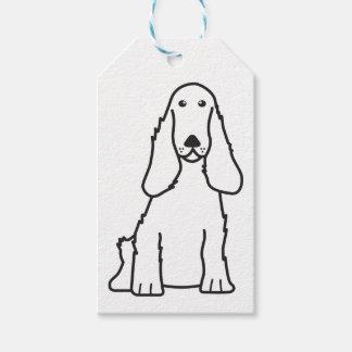 English Cocker Spaniel Dog Cartoon Pack Of Gift Tags