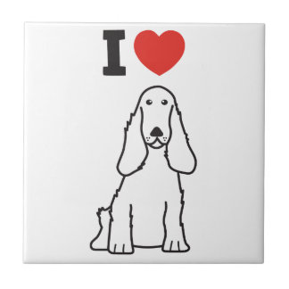 English Cocker Spaniel Dog Cartoon Tile