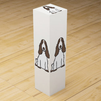 English Cocker Spaniel Dog Cartoon Wine Bottle Boxes