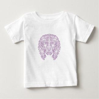 English Cocker Spaniel Dog Head Mono Line Baby T-Shirt