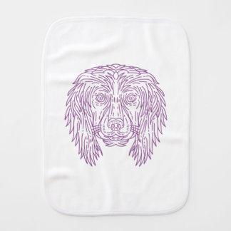English Cocker Spaniel Dog Head Mono Line Burp Cloth
