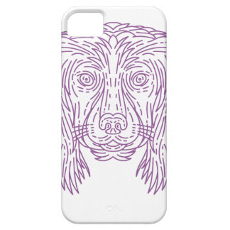 English Cocker Spaniel Dog Head Mono Line iPhone 5 Covers