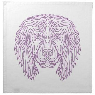 English Cocker Spaniel Dog Head Mono Line Napkin