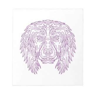 English Cocker Spaniel Dog Head Mono Line Notepad