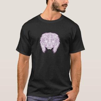 English Cocker Spaniel Dog Head Mono Line T-Shirt