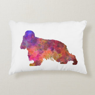 English Cocker spaniel in watercolor Decorative Pillow