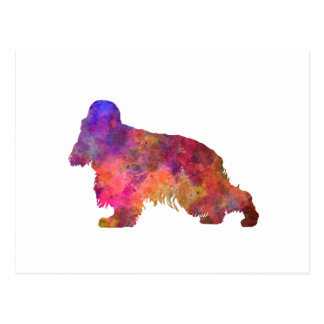English Cocker spaniel in watercolor Postcard