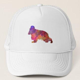 English Cocker spaniel in watercolor Trucker Hat