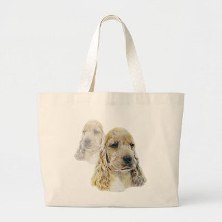 English Cocker Spaniel Large Tote Bag