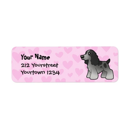 English Cocker Spaniel Love Return Address Label