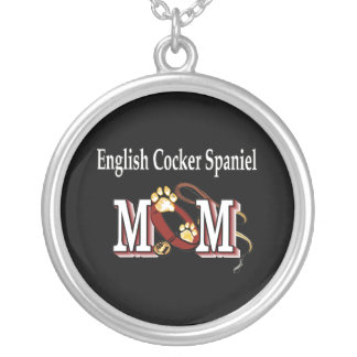 English Cocker Spaniel Mom Gifts Silver Plated Necklace