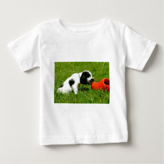 English Cocker Spaniel Puppy with red clog Baby T-Shirt