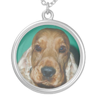 English Cocker Spaniel Red Necklace