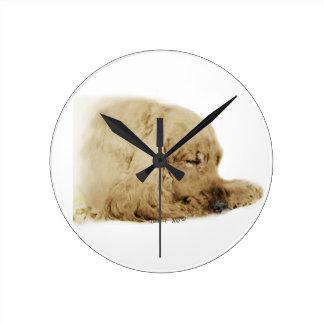 English Cocker Spaniel Round Clock
