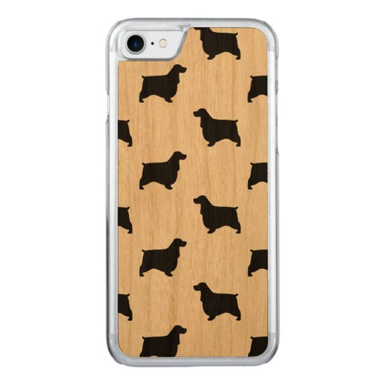 English Cocker Spaniel Silhouettes Pattern Carved iPhone 8/7 Case