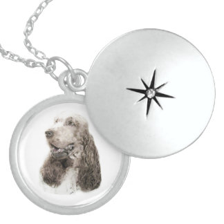 English Cocker Spaniel Sterling Silver Necklace