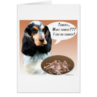 English Cocker Spaniel Turkey Cards
