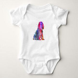 English Cocker Spaniel, watercolor Cocker Spaniel Baby Bodysuit