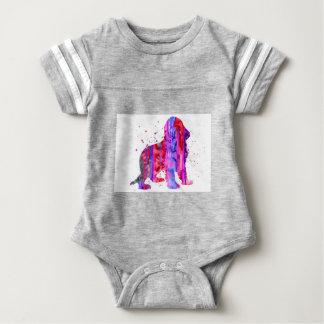 English Cocker Spaniel, watercolor Cocker Spaniel, Baby Bodysuit