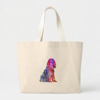 English Cocker Spaniel, watercolor Cocker Spaniel Large Tote Bag